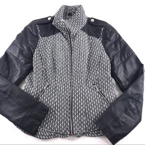 Guess Textured Diamond Tweed & Faux Leather